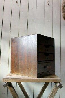 画像4: 【古道具】昭和初期の引き出し(4段鍵付き) (4)