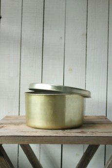 画像1: 【古道具】金ツバメ印 アルマイト丸缶 (1)