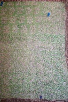 画像3: 【世界の古布】ラリーキルトC(サーモンピンク×ライトグリーン) (3)