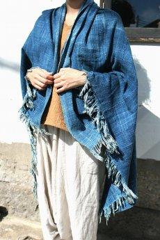 画像3: 【アフリカ】手織り藍染めの綿(中くらい)(藍) (3)