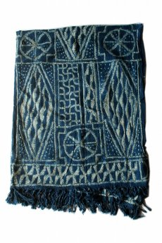 画像2: 【カメルーン】バミレケ族藍染め布(絞り染め) (2)