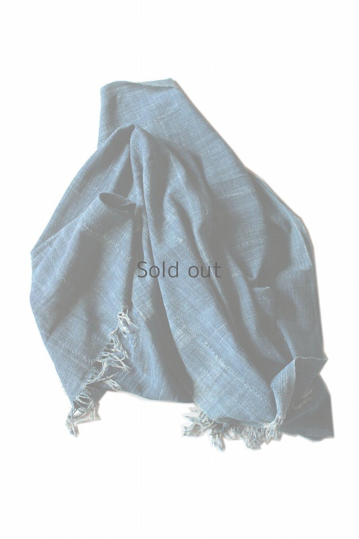 画像1: 【アフリカ】手織り藍染めの綿(中くらい)(藍) (1)