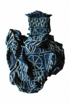 画像1: 【カメルーン】バミレケ族藍染め布(絞り染め) (1)