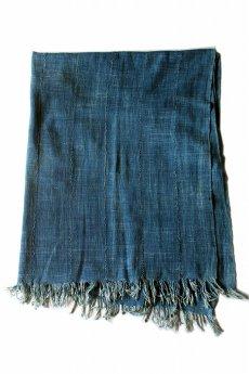 画像2: 【アフリカ】手織り藍染めの綿(中くらい)(藍) (2)