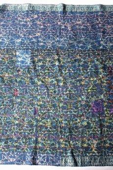 画像3: 【インド・パキスタン】ラリーキルト(藍染 花柄) (3)