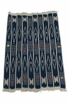 画像3: 【コートジボワール】手織り藍染めストライプ模様の綿(バウレ族) (3)