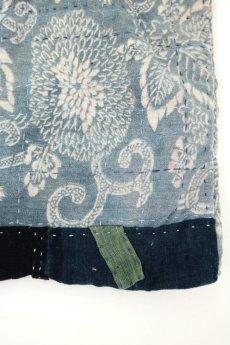 画像6: 【桃雪】古布 どんまいテサゲ(羊羽さんの手染め糸/朱入型染め/リバーシブル) (6)
