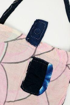 画像8: 【桃雪】古布 おおっきな恋バッグ(羊羽さんの手染め糸/ポケ2/昭和の鯉のぼり/リバーシブル) (8)