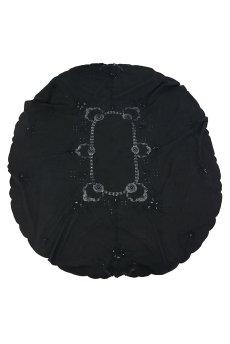 画像1: 【フランス】アンティークレース×染 カットワーク刺繍 大きなテーブルクロス (1)