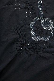 画像4: 【フランス】アンティークレース×染 カットワーク刺繍 大きなテーブルクロス (4)