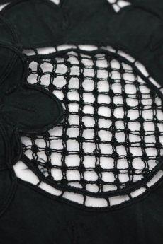 画像6: 【フランス】アンティークレース×染 カットワーク刺繍 敷物(正方形) (6)