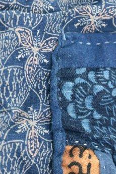 画像9: 【桃雪】藍染古布 へんてこ形ショルダー(リバーシブル) (9)