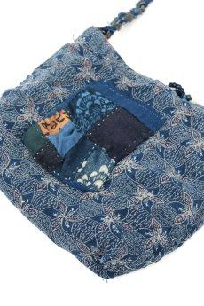 画像8: 【桃雪】藍染古布 へんてこ形ショルダー(リバーシブル) (8)