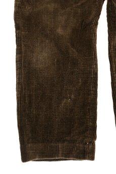 画像7: 【フランス】1940年代頃の太畝ブラウンコーデュロイパンツ (7)
