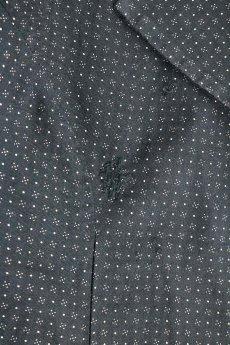 画像7: 【フランス】1950年代頃のブラックドット柄ワークドレス(黒/白/ドット柄/リペアあり) (7)