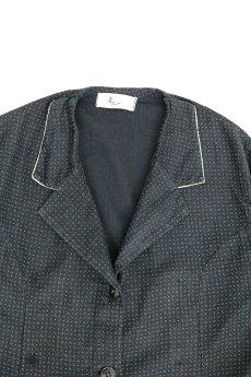 画像5: 【フランス】1950年代頃のブラックドット柄ワークドレス(黒/白/ドット柄/リペアあり) (5)