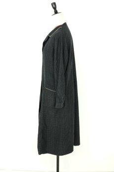 画像3: 【フランス】1950年代頃のブラックドット柄ワークドレス(黒/白/ドット柄/リペアあり) (3)