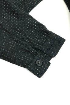 画像12: 【フランス】1950年代頃のブラックドット柄ワークドレス(黒/白/ドット柄/リペアあり) (12)