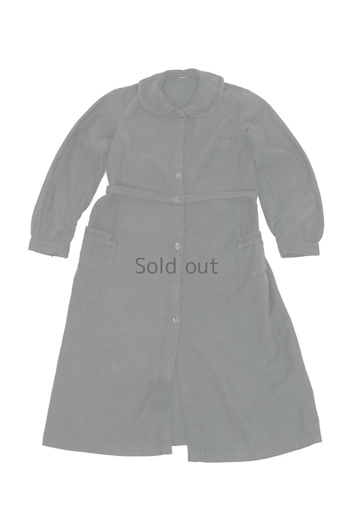 画像1: 【フランス】1930年代頃のブラックワークドレス(丸襟/小さめ) (1)