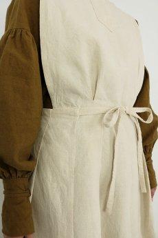 画像6: 【ササキチホ】アンティークリネン メディカルラップドレス(生成り) (6)