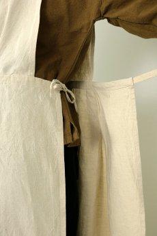 画像7: 【ササキチホ】アンティークリネン メディカルラップドレス(生成り) (7)
