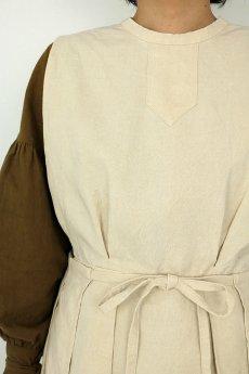画像5: 【ササキチホ】アンティークリネン メディカルラップドレス(生成り) (5)