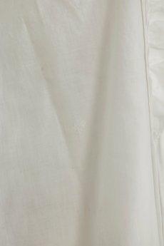 画像9: 【フランス】アンティークコットン フリルレース 長袖ロングワンピース(白/リペアあり) (9)