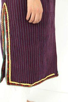 画像11: 【ブルガリア】アンティーク 伝統民族衣装のコート(エンジのストライプ) (11)