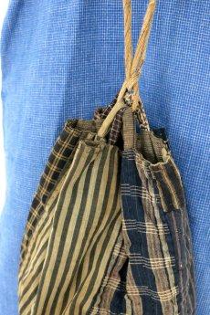 画像3: 【日本】明治・大正時代の米袋巾着(小さめ/3) (3)