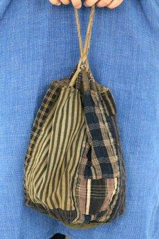画像2: 【日本】明治・大正時代の米袋巾着(小さめ/3) (2)