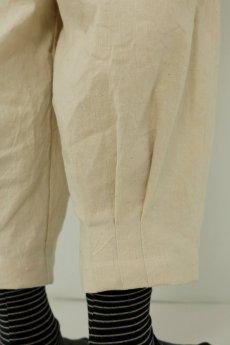 画像12: 【ササキチホ】アンティークリネン 裾タック バレルパンツ(生成り) (12)
