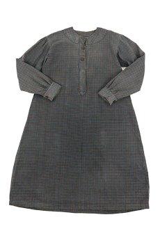 画像1: 【フランス】1950年代頃 フランネルコットン ワークドレス(くすんだチェック) (1)