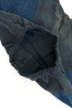 画像8: 【ベトナム】ビンテージ インディゴコットン 刺繍入りパンツ(黒ザオ族) (8)