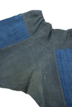 画像7: 【ベトナム】ビンテージ インディゴコットン 刺繍入りパンツ(黒ザオ族) (7)