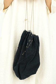 画像8: 【日本】明治・大正時代の米袋巾着(藍染/中くらい/カネアイカトウサクベイ) (8)