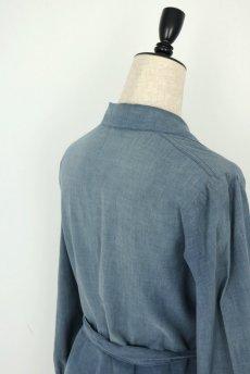 画像11: 【フランス】1950年代頃 シャンブレーコットン 農婦ドレス(ブルーグレー) (11)