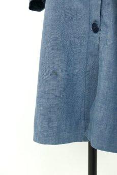 画像8: 【フランス】1950年代頃 シャンブレーコットン 農婦ドレス(ブルーグレー) (8)