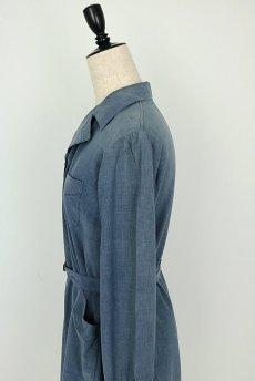 画像9: 【フランス】1950年代頃 シャンブレーコットン 農婦ドレス(ブルーグレー) (9)