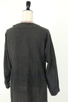 画像16: 【フランス】1940年代頃 サイドボタン ブラックワークドレス(ドット柄) (16)