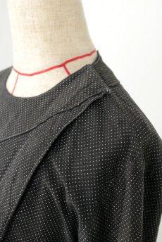 画像5: 【フランス】1940年代頃 サイドボタン ブラックワークドレス(ドット柄) (5)