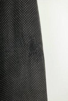 画像13: 【フランス】1940年代頃 サイドボタン ブラックワークドレス(ドット柄) (13)