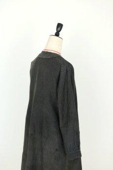 画像17: 【フランス】1940年代頃 サイドボタン ブラックワークドレス(ドット柄) (17)