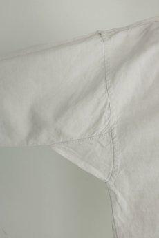 画像5: 【フランス】20世紀初頭のアンティークリネン スモックロングシャツ(白色) (5)