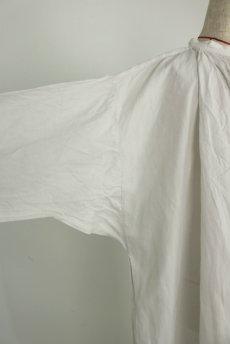 画像5: 【フランス】アンティークリネン 20世紀初頭の教会用ロングスモックドレス(白) (5)