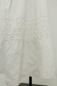 画像11: 【フランス】アンティークリネン 20世紀初頭の教会用ロングスモックドレス(白) (11)