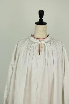 画像3: 【フランス】アンティークリネン 20世紀初頭の教会用ロングスモックドレス(白) (3)