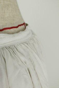 画像10: 【フランス】アンティークリネン 20世紀初頭の教会用ロングスモックドレス(白) (10)