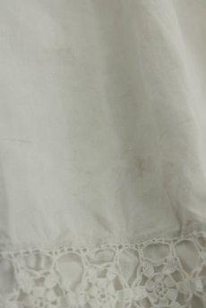 画像16: 【フランス】アンティークリネン 20世紀初頭の教会用ロングスモックドレス(白) (16)