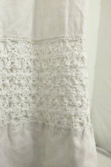 画像7: 【フランス】アンティークリネン 20世紀初頭の教会用ロングスモックドレス(白) (7)