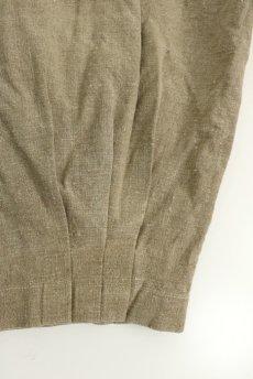 画像7: 【ササキチホ】アンティークリネン 裾タック バレルパンツ(生成り) (7)